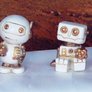ROBOT DECORATO PEZZI 4 RESINA
